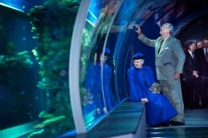 Queen Margrethe and Prince Henrik of Denmark at the opening of The Blue Planet
